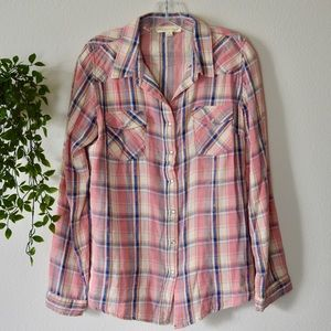 Lovestitch Plaid Long Sleeve Button Down